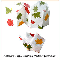 Thanksgiving Cracker Autumn Leaves Paper Hat Crowns
