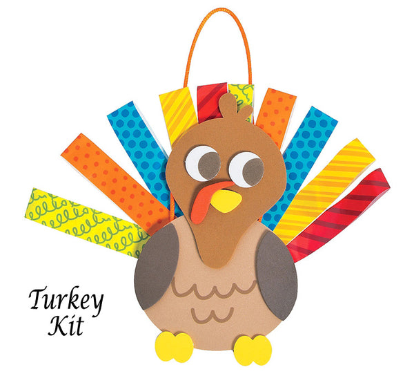 Thanksgiving Turkey Kit with Looped Paper Feathers