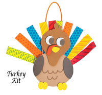 Looped Paper Hanging Turkey Decoration Kit