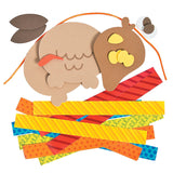 Looped Paper Hanging Turkey Decoration - Kit Pieces