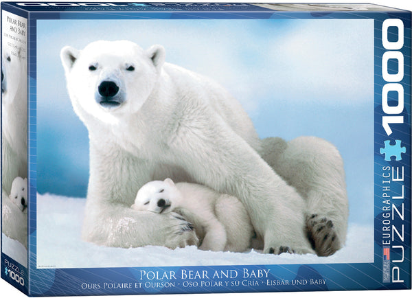 "Jigsaw Puzzle - ""Polar Bear & Baby"" - 1,000 puzzle pieces. Price $20.00"