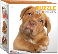 "Mini Jigsaw Puzzle - ""Puppy"" - 100 Pieces. Stocking stuffer."