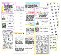 Victoria Day Activity Sheets with English games and puzzles