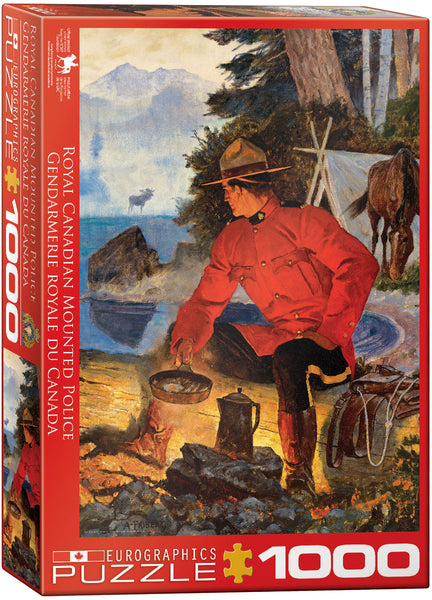 "Cottage Jigsaw Puzzle | ""RCMP - Morning Campfire"" - 1,000 puzzle pieces."