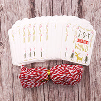 "Retro Christmas Gift Tag - ""Joy to the World"""
