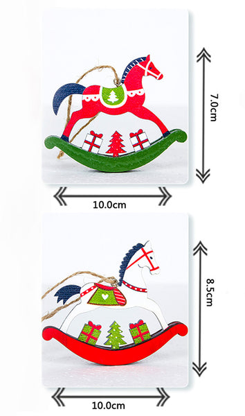 Rocking Horse Ornament Size Chart