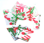 "Paper Hat Crowns | ""Red & Green Snowflakes"""