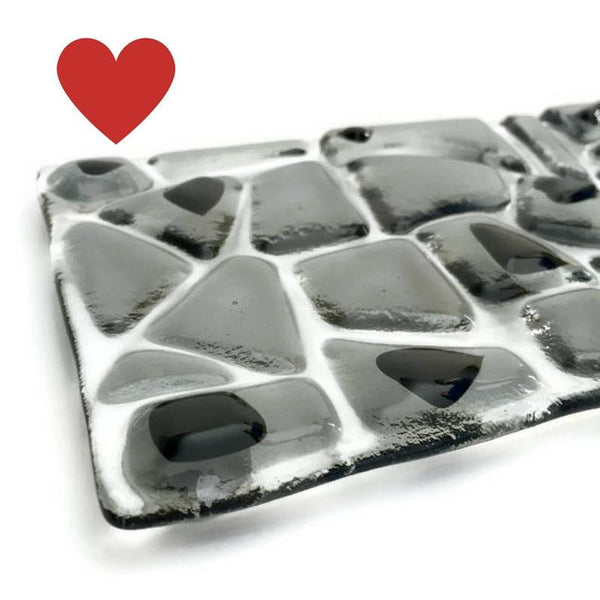 Fused Glass Soapdish - Gray
