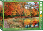 "Jigsaw Puzzle  | ""Autumn in Sharon Woods, Ohio"" - 1,000 pieces"