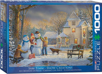 "Jigsaw Puzzle | ""Snowmen Creations"" - 1,000 puzzle pieces."