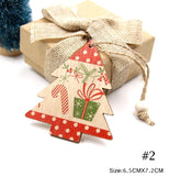 Wood Christmas Tree Ornament - Polka Dot Tree with Candy Cane