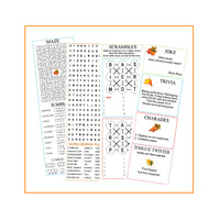Thanksgiving Cracker Activity Sheets with jokes, puzzles and games