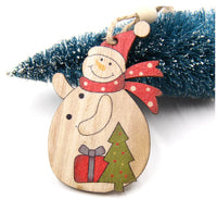 Cheerful Wood Tree Ornaments