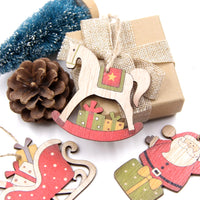 Rocking Horse Wooden Christmas Tree Decoration