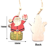 Wood Tree Decorations - Measurements