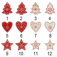 Wood Tree Ornaments - Set of 10 or 12
