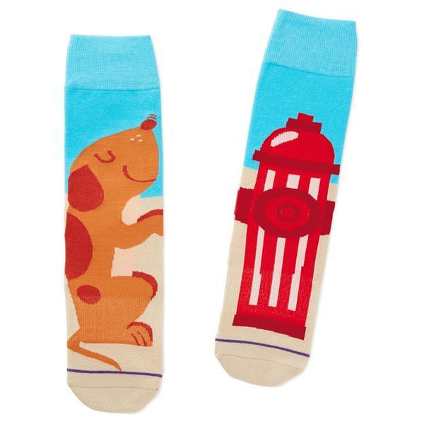 Dog and Fire Hydrant Socks