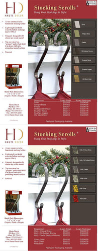 Pewter Holy Stocking Scrolls/ 2 Pack
