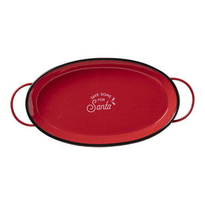 """Save some for Santa"" Oval Tray"