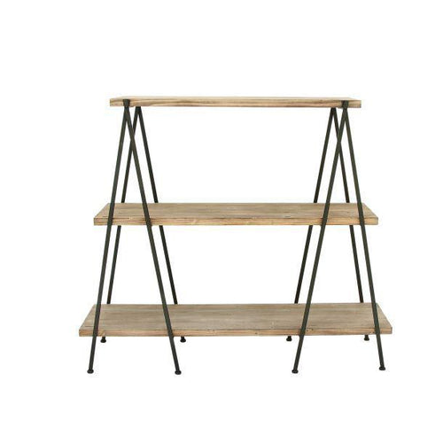 Wood Metal 3 Tier Shelf