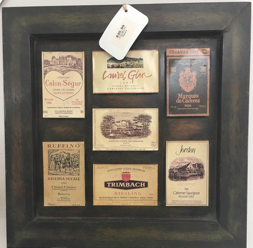 Framed WIne Labels