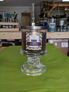 "3 1\4"" Glass Candle Holder"
