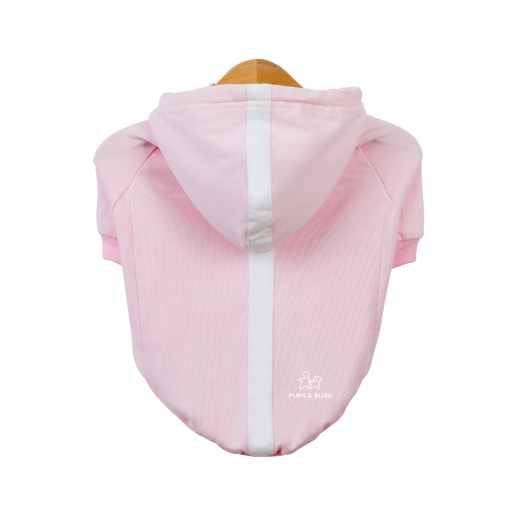 Pups Pink Relaxed Hoodie (Organic Cotton)