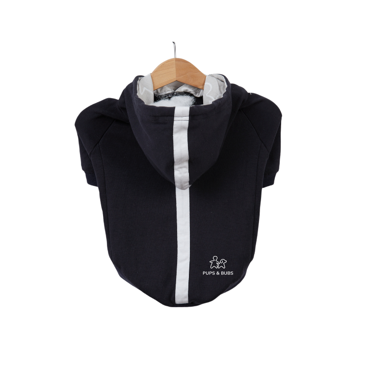 Pups & Bubs Matching Navy Relaxed Hoodie Set (Organic Cotton)