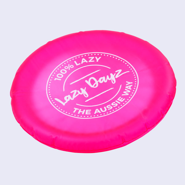 Inflatable Frisbee - Pink,Teal - Lazy Dayz
