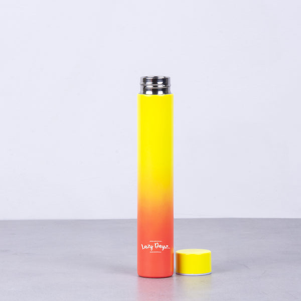 Slimline Drink Bottle 300ml - Orange Pink Ombre,Pink Blue Ombre,Yellow Peach Ombre - Lazy Dayz
