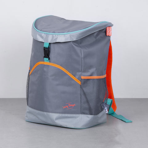 Jumbo Cooler Backpack - Orange Gray Teal - Lazy Dayz