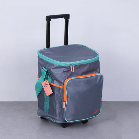 Jumbo Trolley Cooler - Orange Gray Teal - Lazy Dayz