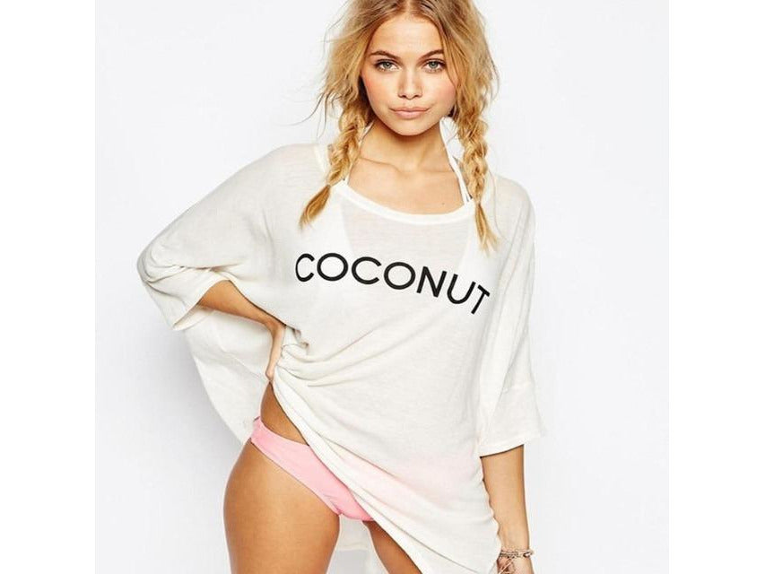 Coconut Oversized Cover Up