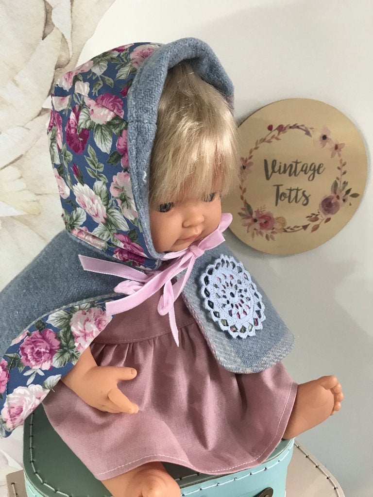 Miniland Reversible Wool Cape - Emma