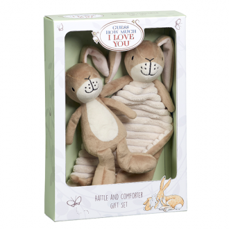Guess How Much I Love You: Nutbrown Hare Comfort Blanket & Rattle Gift Set