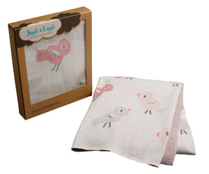 Baby Bird & Bunny Jacquard - 100% Cotton Blanket