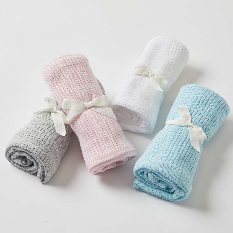 Cotton Cellular Baby Blankets