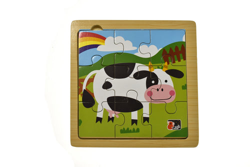 Cow 9PCS Jigsaw Puzzle