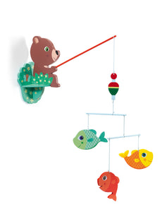 Djeco - Wooden Mobile Fishing Bear