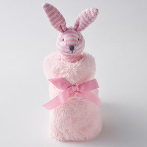 Pink Bunny Plush Soother