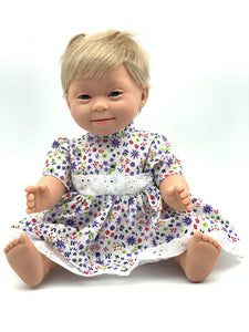 Doll With Down Syndrome - Girl Short Blonde Hair 40cm