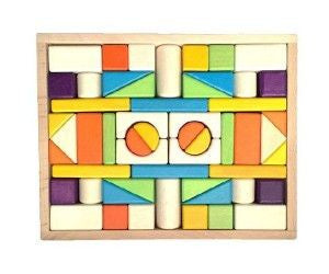 54 piece - Wooden Block Tray