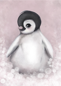 Romeo - The Baby Penguin Available In Pink/Grey