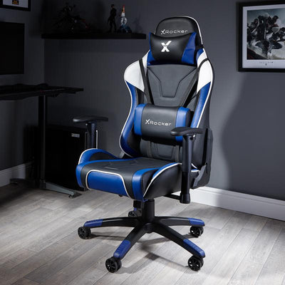 NEW! X Rocker® Agility Sport PC Gaming Chair - Blue
