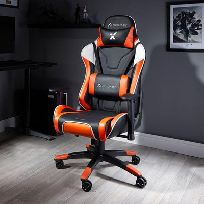 NEW! X Rocker® Agility Sport PC Gaming Chair - Orange
