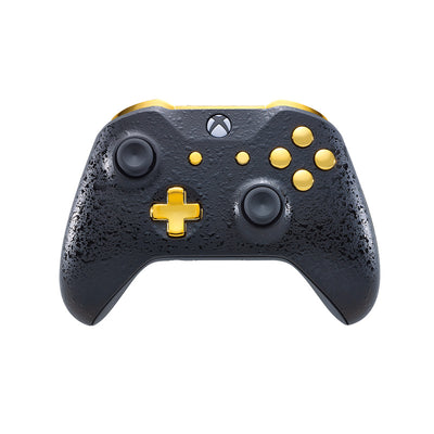 Xbox One Custom Controller - 3D Black & Gold Edition | #3000101