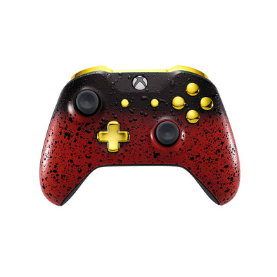 Xbox One Custom Controller - 3D Red Shadow & Gold Edition
