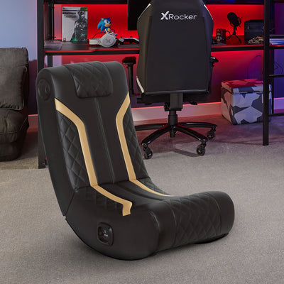 NEW! X Rocker® Lux 2.0 Bluetooth Gaming Chair - Black/Gold