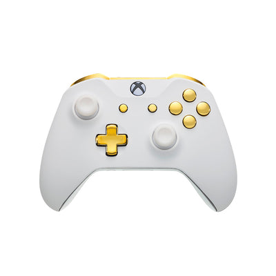 Xbox One Custom Controller - White Velvet & Gold Edition | #3000501