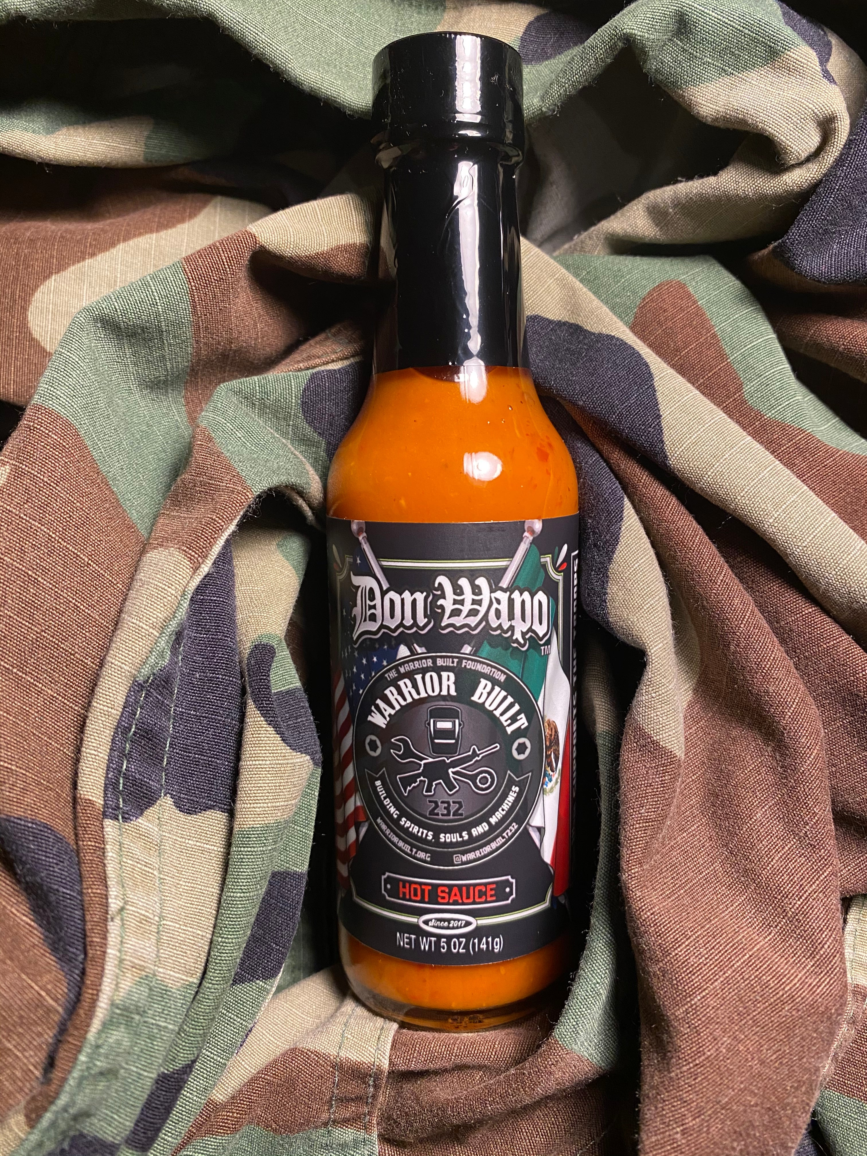 Wounded Veteranos Limited Edition RE-LABLE Don Wapo La Primera Colab Hot Sauce